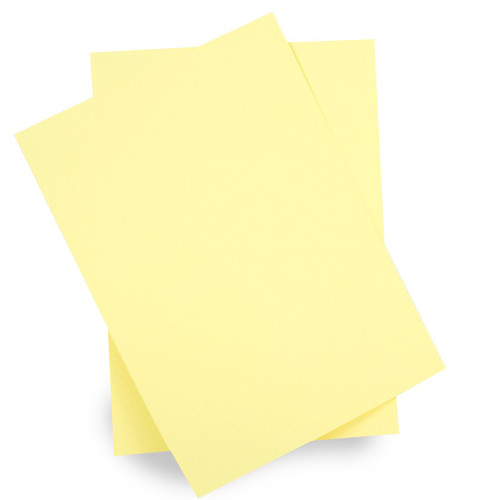 A6 Pale yellow card sheets