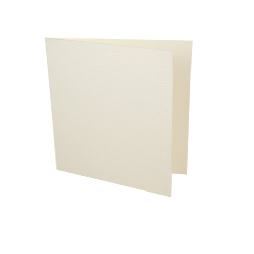 Small Square Card Blanks, Ivory Linen