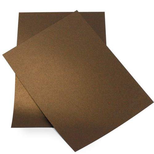 A6 Pearl Card Sheets, Bronze Brown (50 pack)