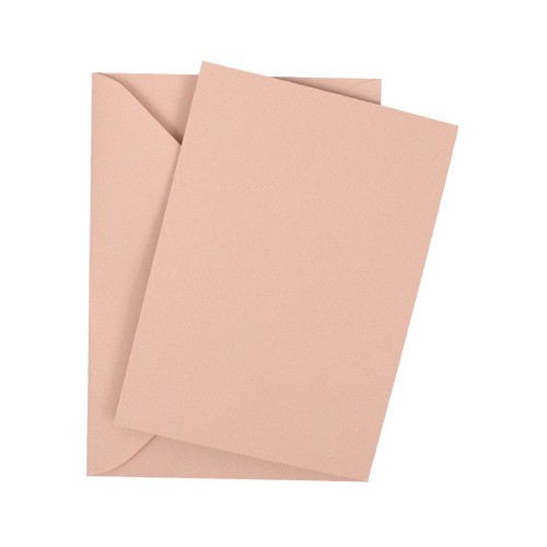 A6 Rose gold flat sheet invitations with envelopes