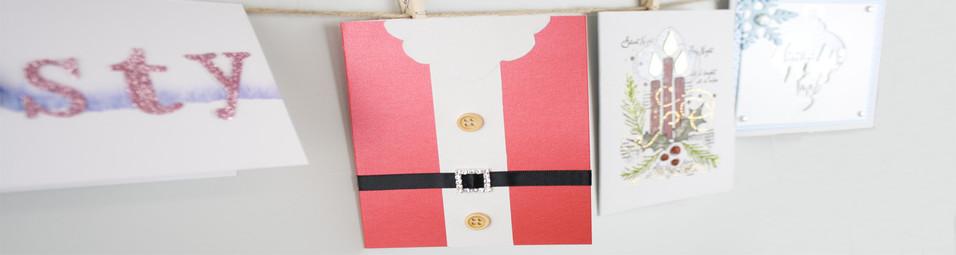 DIY Santa's Belt Handmade Christmas Card