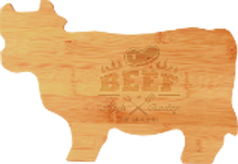 Cow Shaped Bamboo Cutting Board-Personalized
