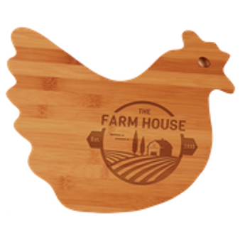 Bamboo Hen Shaped Cutting Board-Personalized