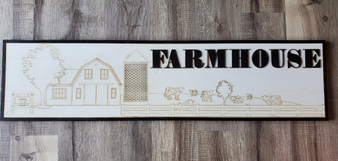 "Small ""farmhouse"" letters"
