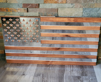 Wood and Mirror Flag