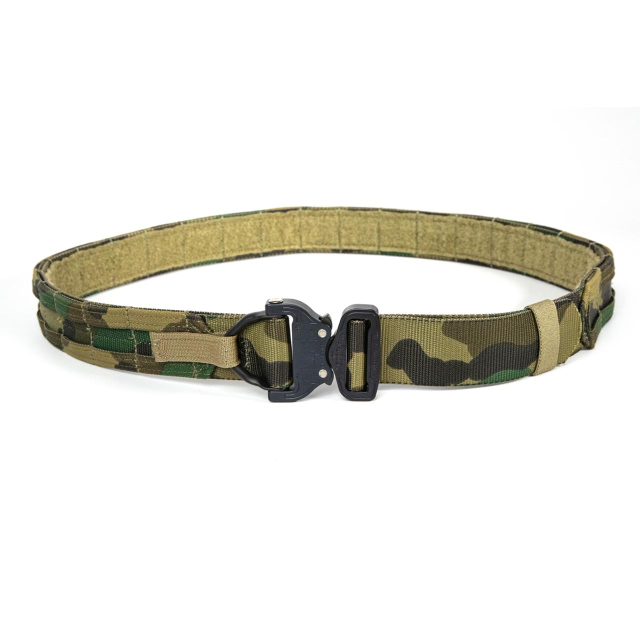Eagle Industries Operator Gun Belt Cobra Buckle D-Ring MOLLE Multicam Black L