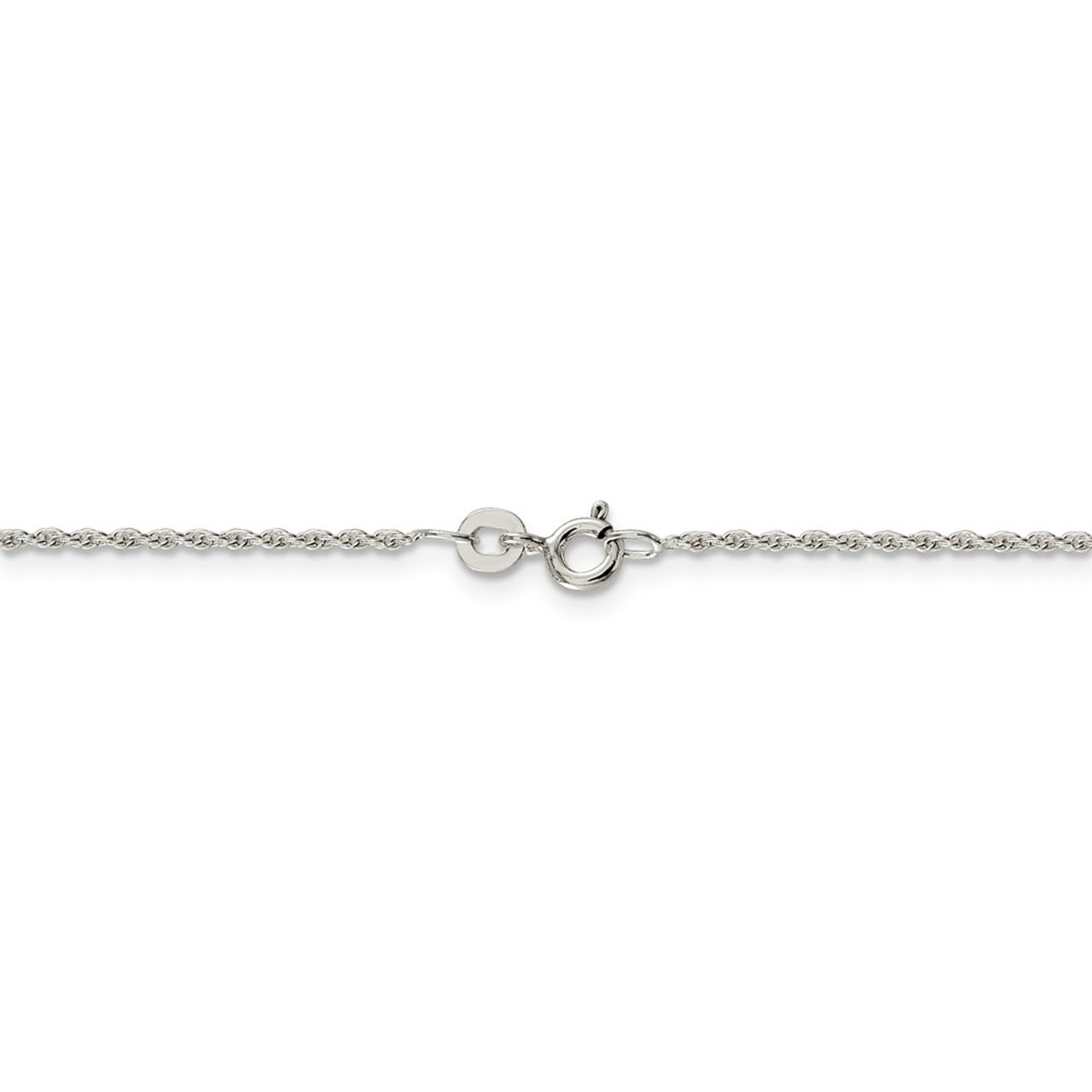 Solid 925 Sterling Silver 1.3mm Loose Rope Chain Necklace