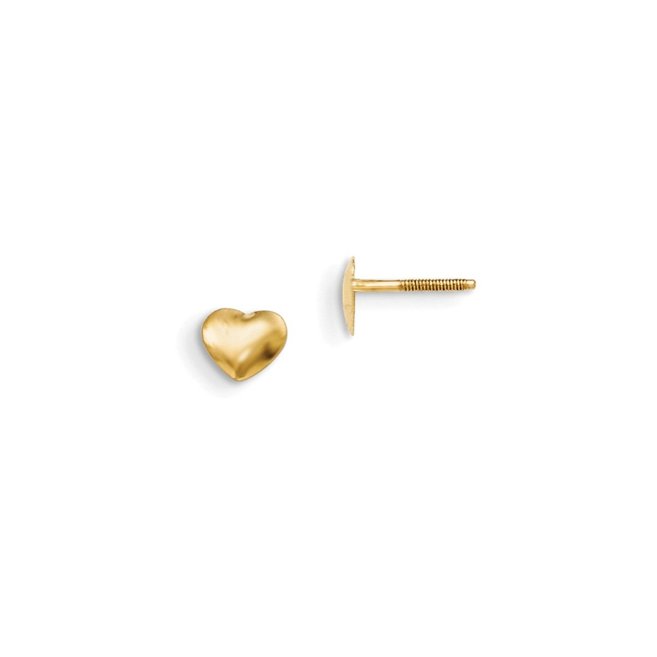 14k White Gold Madi K Heart W//Butterfly Post Earrings