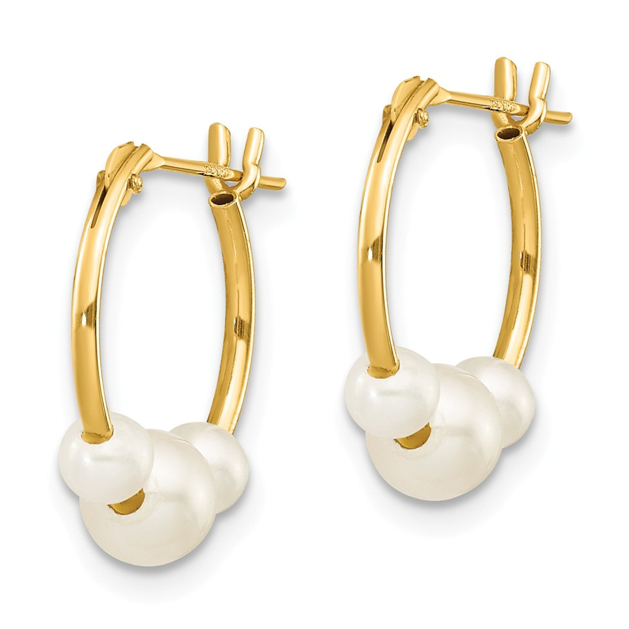 14k Madi K Endless Hoop with Cultured Pearl Earrings