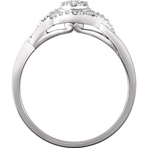10K White Gold 1/10 CTW Diamond Promise Ring