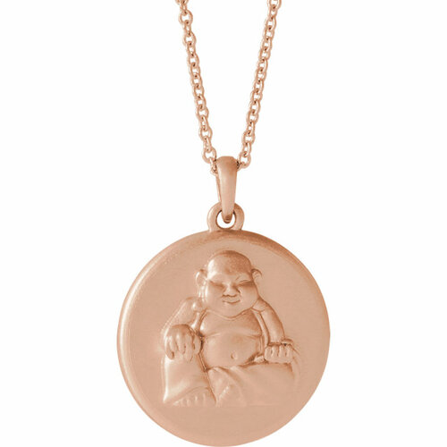 14K Rose Gold Buddha Necklace