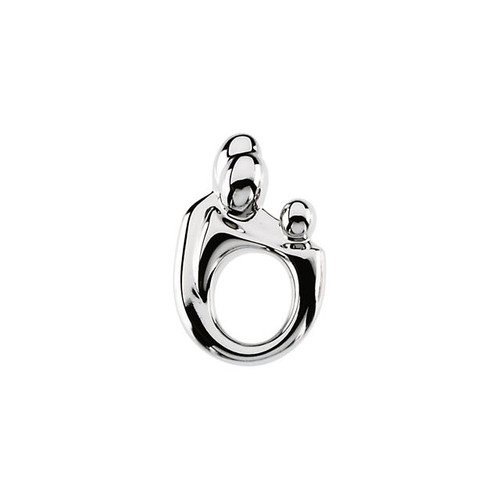 Sterling Silver Family Pendant - 16x10.5mm