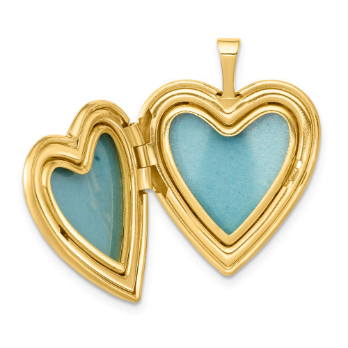 Sterling Silver Gold-plated Claddagh Enameled Heart Locket - QLS797