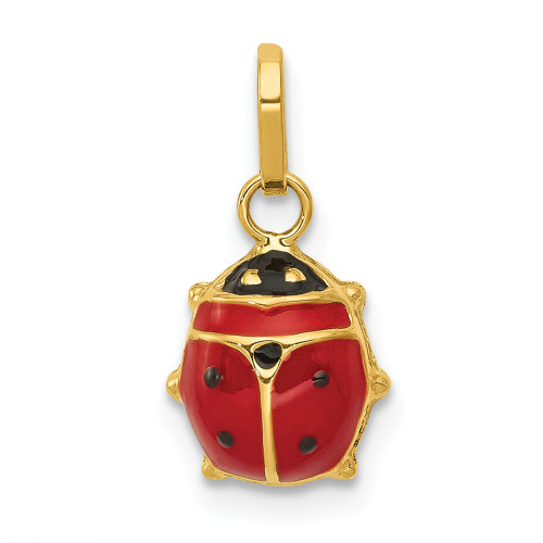 14k Yellow Gold Enameled Ladybug Charm - XCH216