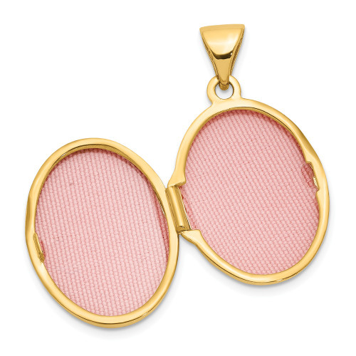 14k Yellow Gold Oval Scroll Locket - XL156
