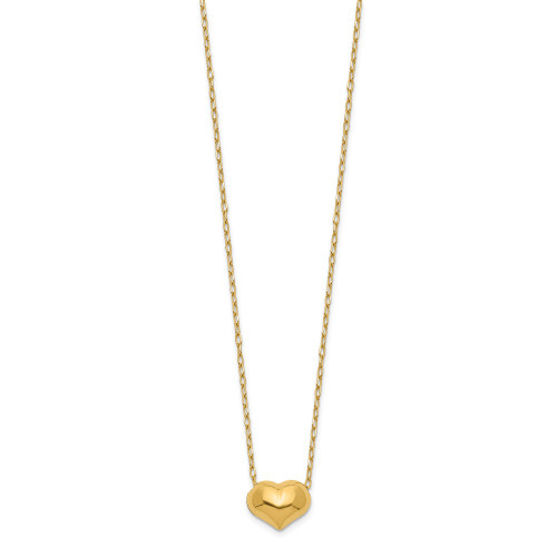 14k Yellow Gold Madi K Small Hollow Heart w/ Chain Necklace