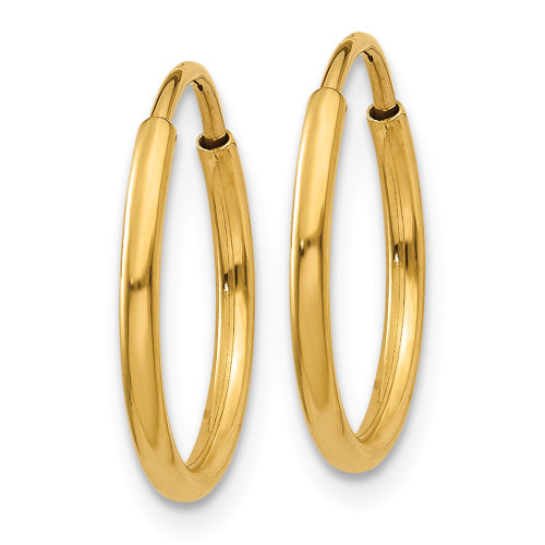 14k Yellow Gold Endless Hoop Earring XY1210