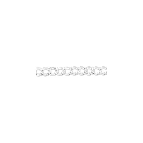 Sterling Silver Double Link Charm Bracelet QCH100-7