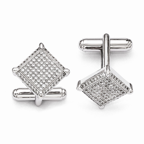 Sterling Silver & CZ Brilliant Embers Cufflinks QMP426