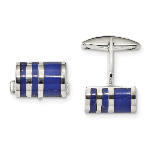Sterling Silver Lapis Cuff Links QQ610