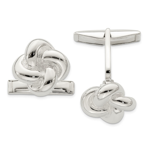 Sterling Silver Knot Cuff Links QQ548