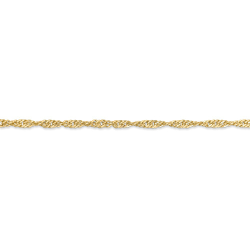 14k Yellow Gold 2.75mm Lightweight Singapore Chain BC149-10