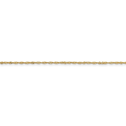 14k Yellow Gold 1.10mm Singapore Chain PEN9-9