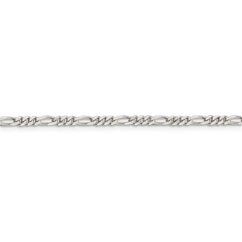 Sterling Silver 2.85mm Figaro Chain QFG080-10