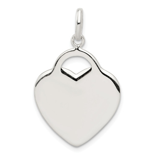 Sterling Silver Heart Charm QC3712