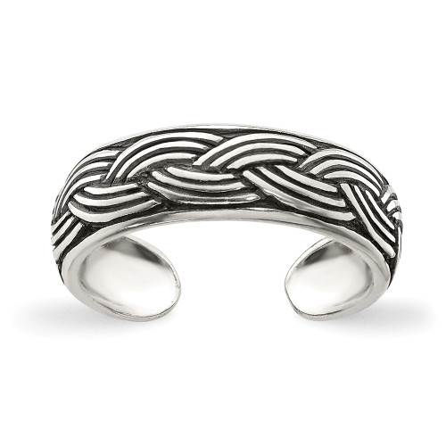 Sterling Silver Antiqued Toe Ring QR837