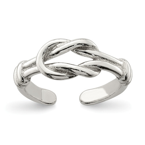 Sterling Silver Love Knot Toe Ring QR831