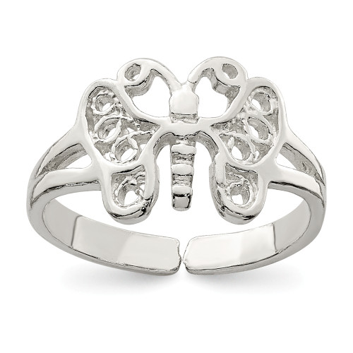 Sterling Silver Butterfly Toe Ring QR615