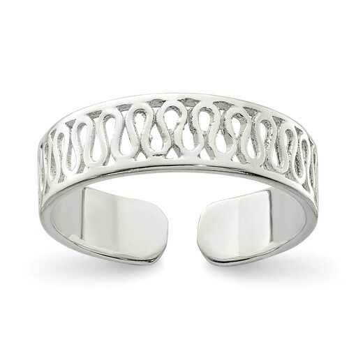 Sterling Silver Solid Toe Ring QR870