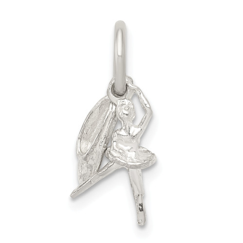 Sterling Silver Ballerina with Shoe Charm QC801