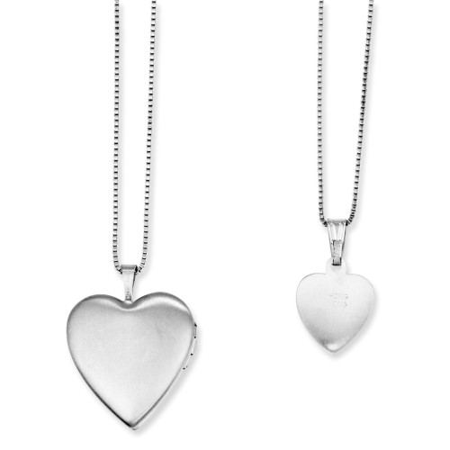 Sterling Silver Gold-plated Heart Locket & Pendant QLS454SET