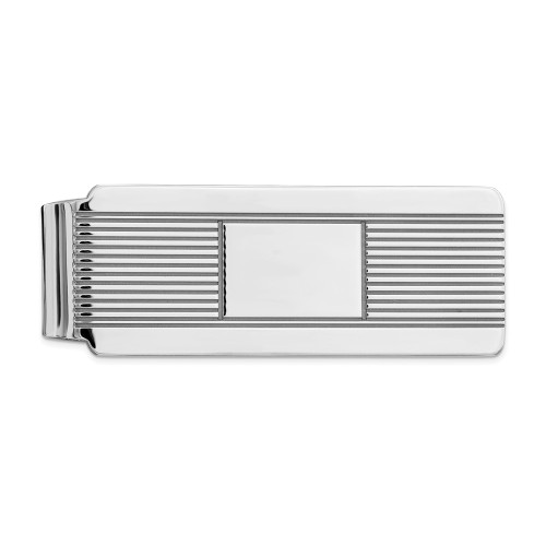 Sterling Silver Rhodium-plated Money Clip QQ33