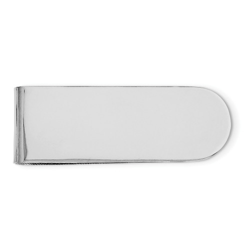 Sterling Silver Rhodium Plated Money Clip QQ503
