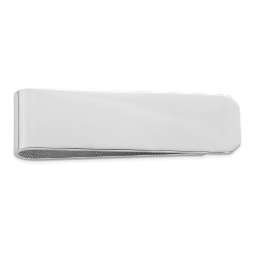 Sterling Silver Rhodium Plated Money Clip QQ500