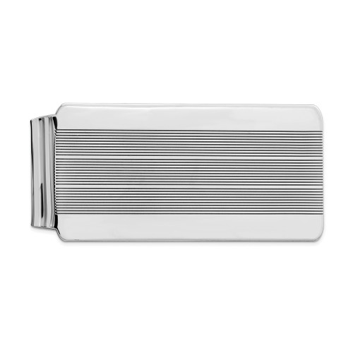 Sterling Silver Rhodium-plated Money Clip QQ31