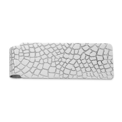 Sterling Silver Rhodium-plated Money Clip QQ136