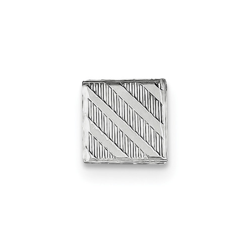 Sterling Silver Rhodium-plated Tie Tac QQ198
