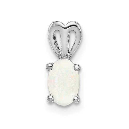Sterling Silver Rhodium-plated Created Opal Pendant QBPD20OCT
