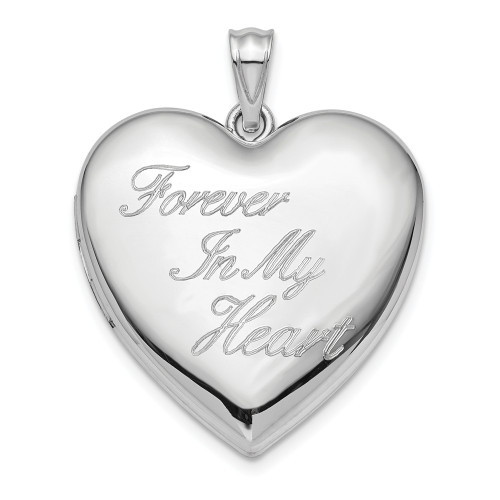 Sterling Silver 24mm Forever in My Heart Ash Holder Heart Locket QLS869