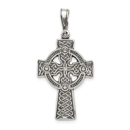 Sterling Silver Themed Jewelry Pendants /& Charms Solid 25 mm 37 mm Antiqued Cross Pendant