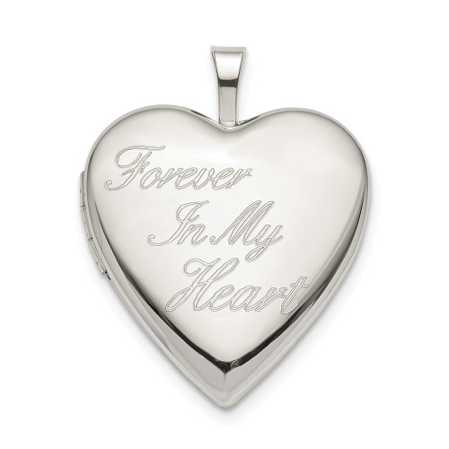 Sterling Silver 20mm FOREVER IN MY HEART Heart Locket QLS805