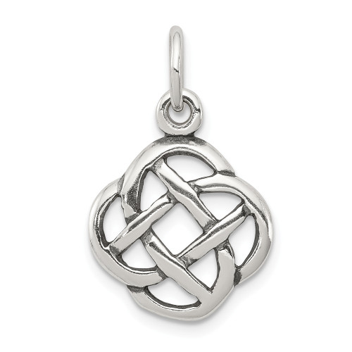 Sterling Silver Antiqued Celtic Knot Charm QC4716