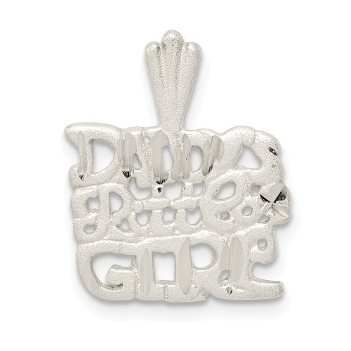 Sterling Silver Daddy's Little Girl Charm QC3072