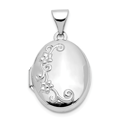 14k White Gold Locket XL205