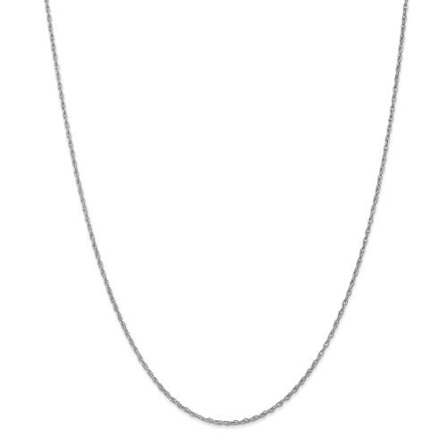 14k White Gold 1.3mm Heavy-Baby Rope Chain 14inch PEN90-14