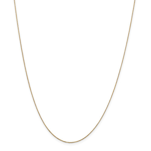 14k Yellow Gold .6mm Solid D/C Cable Chain 14inch PEN136-14